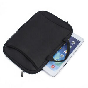 Black Neoprene Soft Tablet Sleeve Notebook Pouch For Apple iPad Mini 5 4 3 2 1