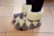 Quality Sheepskin/Sheep Wool Slippers For Men/Women. Made in Poland. USA Seller.