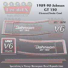1989-90 Johnson GT150 Smoke Charcoal Cowl V6 Sea-Horse Outboard Repro 16Pc Decal