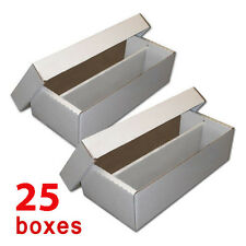 25 White Storage Boxes HOLD baseball, gaming, or Pokemon Cards High Quality BULK