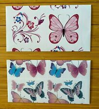 Butterfly Envelopes 4x7 Paper Handmade Stationery 2 Piece Lot