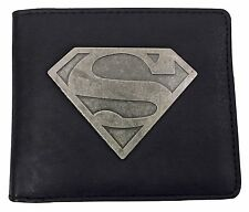 DC Comics-Para Hombre Negro Cuero PU Superhero Imitación Cartera de tarjeta de Logotipo de Superman