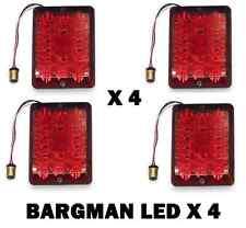 Bargman Set of 4(FOUR) RED Upgrade 84 85 86 LED LIGHT + 2 AMBER LIGHTS