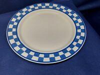 Nancy Calhoun CountryCuisine Sapphire Checks Individual Dinner Plates Blue/White