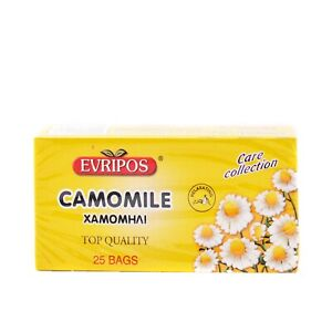 EVRIPOS FROM GREECE GREEK CAMOMILE (PACKET 25 BAGS) TOP QUALITY RELAXATING