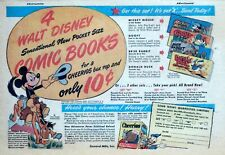 Cheerios Comic Book sets ad page - Mickey Mouse - 1947 color Sunday comic ad
