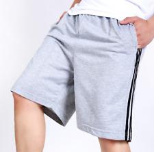 Mens Elastic Wasit Belt Lace Up Loose Summer Beach Cotton Trouser Pants Shorts