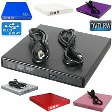 External USB 2.0 DVD Drive DVD RW CD RW ReWriter Burner For Netbook PC Laptop
