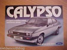 Ford Capri Calypso 4 page SMALL colour sales folder FA572