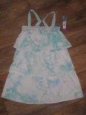 New Girls Sz 6 Hang Ten Sleeveless 3 Tiered Ruffle Summer Dress Retails $34