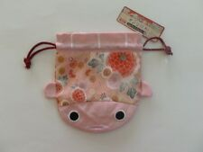 NEW DAISO Japan Pink Japanese Koi Pattern Pouch Coin Purse