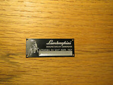 Lamborghini Display Plaque 1/24 1/18 1/43 Countach Diablo Gallardo Aventador