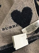 100% Authentic NWT BURBERRY Heart wool-blend scarf Rare sold out fall 2017