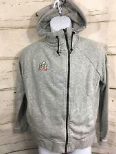 Superbowl LI New England Patriots NIKE Full Zip Gray Hoodie NFL Sweatshirt Sz S