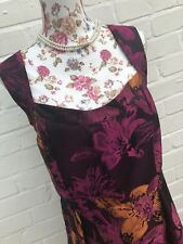 BNWT Joe Browns Dress Size 18 Purple Floral Gown Party Wedding