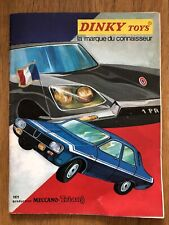 FRENCH DINKY TOYS 1971 CATALOGUE. ORIGINAL. VERY NEAR MINT CONDITION.