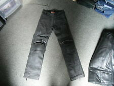 Hein Gericke Size UK 38 Black Leather Mens Motorbike Trousers
