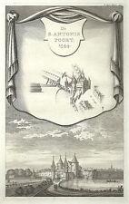 Antique map, De S. Antonis Poort 1544