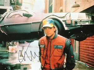 MICHAEL J FOX SIGNED 16X12 BACK TO THE FUTURE PHOTO AFTAL#198