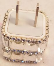 Glamorous Glitzy Rhinestone Studded Faux Stones USB Wall Charger