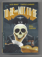 Ernst Lubitsch 1942 TO BE OR NOT TO BE CRITERION DVD Jack Benny Carole Lombard