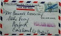 UNITED STATES 1941 AIRMAIL COVER TO ENGLAND WITH V FOR VICTORY METALLIC LABEL