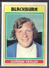 TOPPS-FOOTBALL (BLUE BACK 1976)-#107- BLACKBURN - GORDON TAYLOR