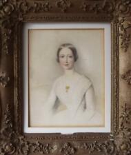 More details for henry hawkins (c1796-1881) british romantic portrait watercolour of eliza powers