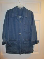 Doncaster denim jacket blazer size M Medium LS EUC
