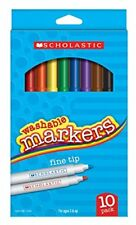 Scholastic Washable Fine Tip Markers 10 pack