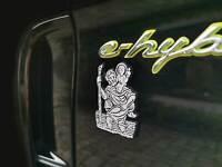 Für E-Hybrid Porsche Christophorus Christopherus Schutzpatron Relief Emblem