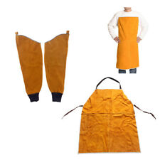 Work Apron for Men & Women + Welding Split Sleeves for Safety Welding Yellow