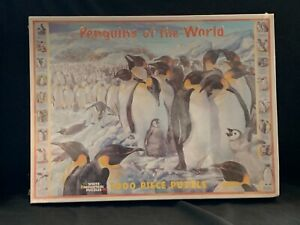 "White Mountain ""Penguins of the World"" 1000 Piece Jigsaw Puzzle-24 x 30 ins."