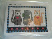New Counted Cross Stitch Kit #8026 Three Cats