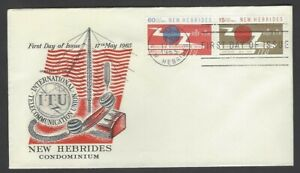 New Hebrides 1965 ITU unaddressed FDC First Day cover