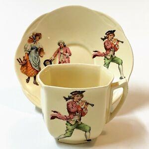 Antique Royal Doulton 1932 Nursery Rhyme Series Cup & Saucer D5187, RARE