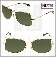 OLIVER PEOPLES OV1090 Jack One Aviator Sunglasses Gold Green Metal 1090