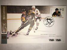Mario Lemieux Penguins Fdc Stamp envelope Canada Post 2017