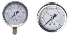 Edelstahl Druckluft Glycerin Manometer Ø63mm waagerecht o senkrecht G1/4 bar