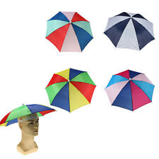 Foldable  Golf Fishing Camping Headwear Outdoor Sun Umbrella Hat Cap Head Hats