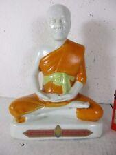 Luang Phor Koon Mönch Porzellan Buddha alte Handarbeit Thailand signiert  ~1975