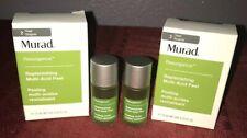 2X Murad Replenishing Multi Acid Peel .33oz/10 mL Each New Resurgence