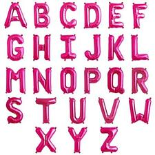 """ALPHABET LETTER A-Z PINK Foil Balloons 34"""" Giant Helium Quality/Airfill {APAC}"""