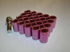 NNR Steel Inner Hex Wheel Lug Nuts Open Ended Pink 32mm 12x1.5 20pcs