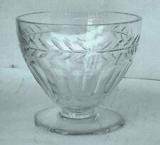 Cristal  Art-Déco - coupe à dessert en cristal taillé