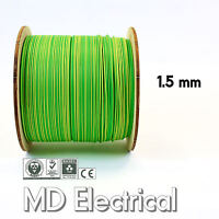 1.5 mm Single Core Conduit Cable 6491X Earth Yellow Green Supplementary Bonding