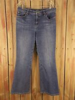 LRL Ralph Lauren Jeans Flare Leg Stretch Women's Blue Denim Size 14
