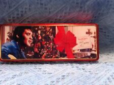 """NOS 1996 ELVIS PRESLEY """"CHRISTMAS TREE BLUE SHIRT"""" RUSSELL STOVER CANDY TIN"""