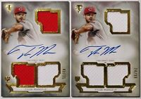 2018 TOPPS TRIPLE THREADS * 2 CARD LOT TYLER MAHLE AUTO /75 & /99 * RC * REDS!