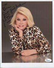 JOAN RIVERS HAND SIGNED 8x10 COLOR PHOTO     GREAT COMEDIAN     TO BRIAN     JSA